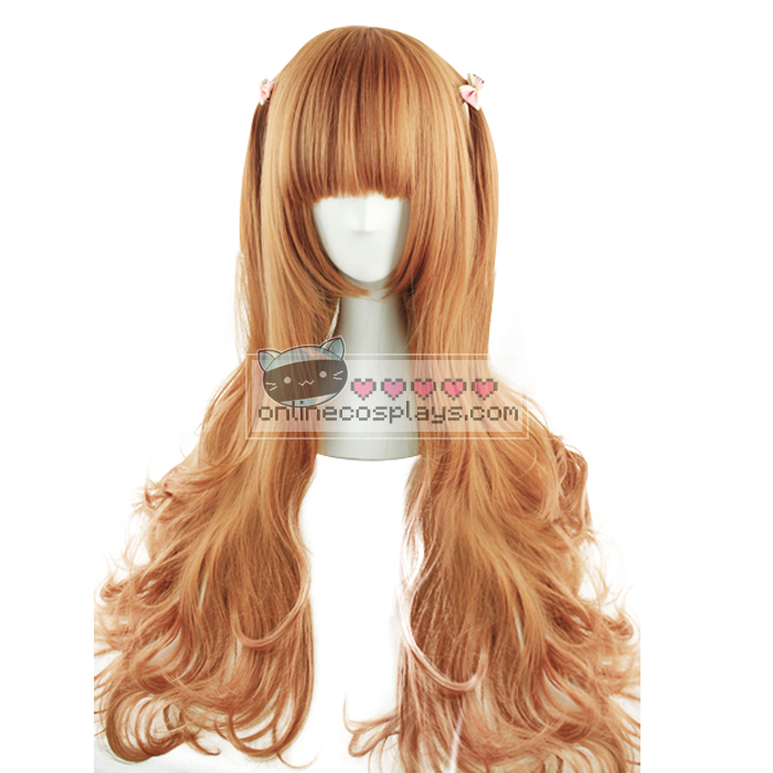 Honey Orange Brown Curly Wig OC2806