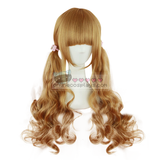 Harajuku Honey Golden Blonde Brown Long Curly Wig OC2981