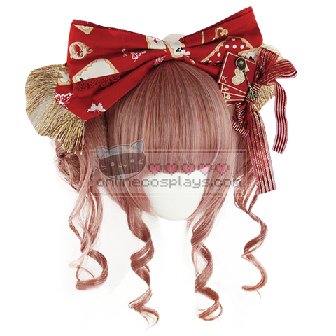 Lolita Brown Pink Purple Mixed Buns Wig OC2998