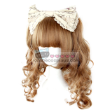 Double Pony Tail Brown / Blonde Short Curly Wig OC404
