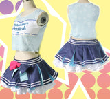 Cosplay Costume Japanese Anime Love Live Sonoda Umi Cheerleader OC3518