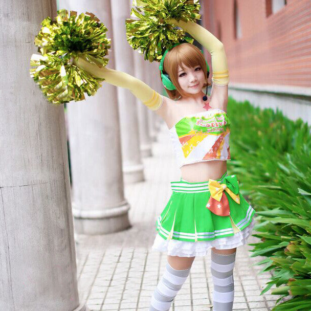 Cosplay Costume Japanese Anime Love Live Koizumi Hanayo Cheerleader OC2892