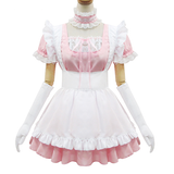 Japanese Sweet Lace Ruffle Apron Maid Dress OC2176