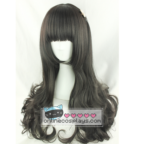Natural black Wavy Long Wig OC2410