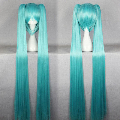 Long PonyTail Twin Tails Hatsune Miku Cosplay Wig 6 Colors