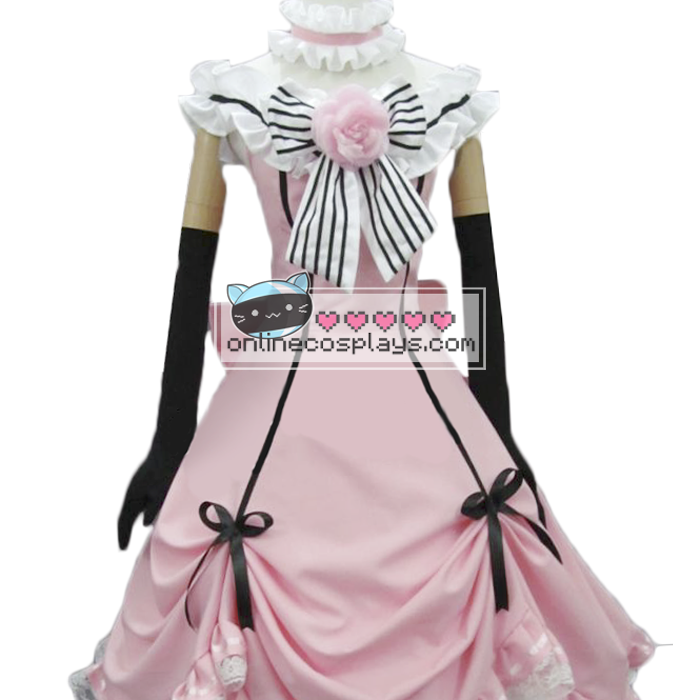 Ciel Phantom Light Pink Cosplay Costume Dress OC1156