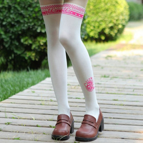 LoveLive Love Live Thigh High Printed Tights Patnyhose
