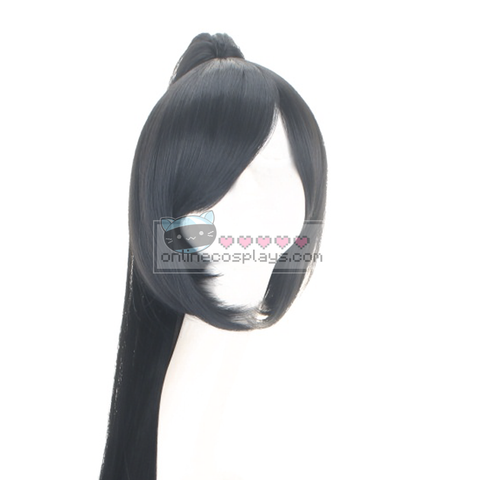 Akali League of Legends LOL Cosplay Pony Tail Long Black Wig OC6505