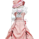 Ciel Phantom Peach Orange Pink Cosplay Costume Dress OC1155