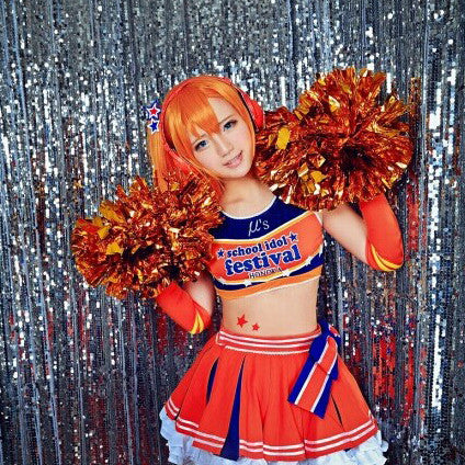 Cosplay Costume Japanese Anime Love Live Kosaka Honoka Cheerleader OC3428