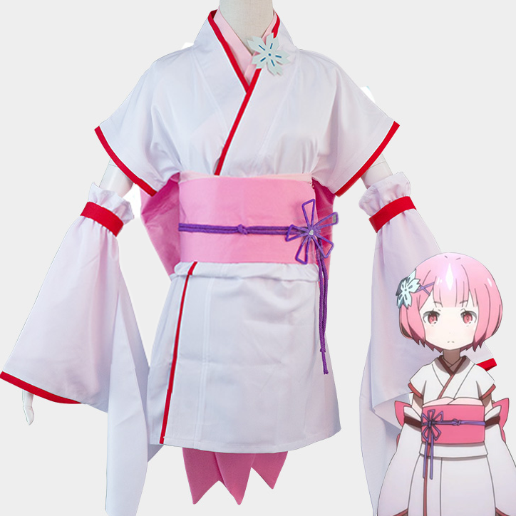 Rem and Ram Kimono Pink and Blue Re:Zero Rezero Cosplay Costume Ver 1 OC3929
