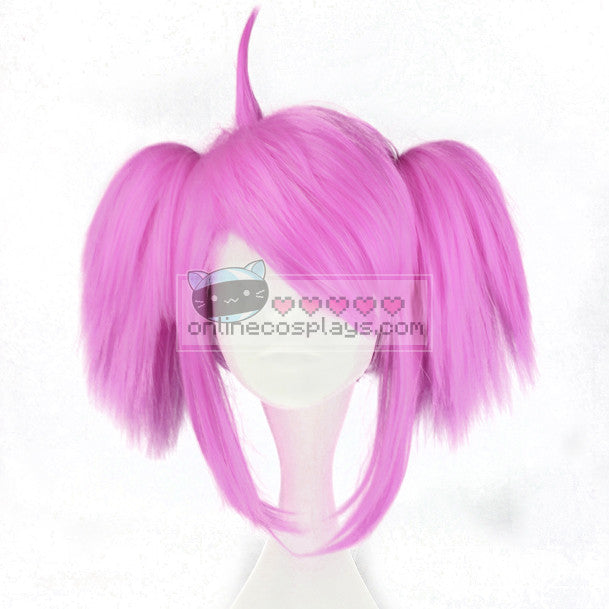 Star Guardian Lux Hot Rose Pink Wig PonyTail OC6951