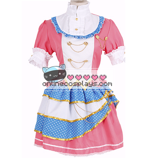 Kotori Pink and Blue Love Live Cosplay Costume OC6635