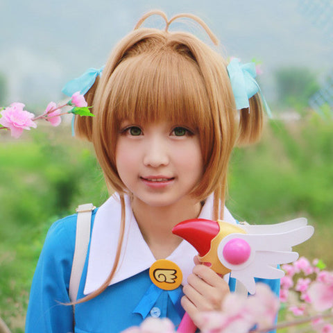 Natural Brown Short and Double Buns Cosplay Wig OC1145