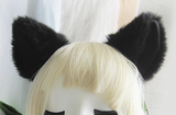 Kitty Cat Plush Fluffy Ear Headband OC1919