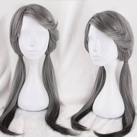 Black and Green Long Straight Gradient Wig OC167