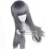 Harajuku Medium Silver Grey Straight Wig OC2124