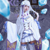 Emilia Re: Zero Cosplay Costume Full Set