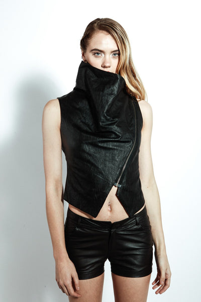 Azalea Leather Vest