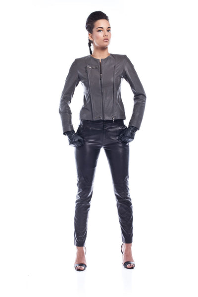 Brien Tarth Studded Leather Jacket