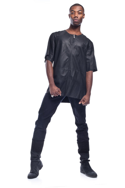 Exiled Knight Men's Long Leather Top