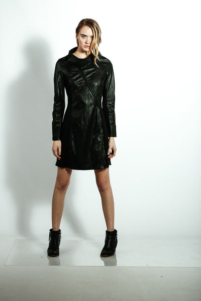 High Wrap Dress Coat