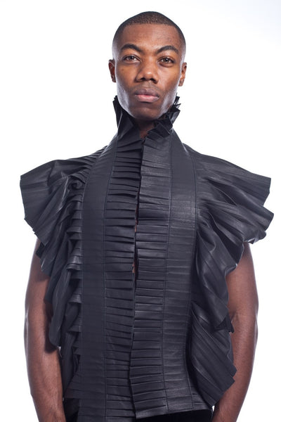 The Throne Pleated Leather Scarf