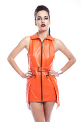 Rosch Belted Leather Dress