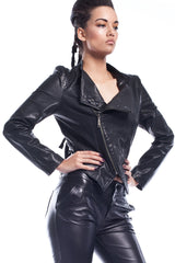 Talysa Starx Asymetric Leather Jacket