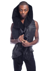 The Hound Pleated Leather Scarf