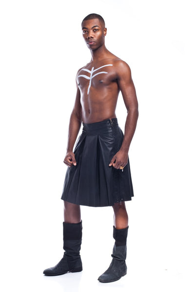 Dothraky Men's Pleated Leather Kilt