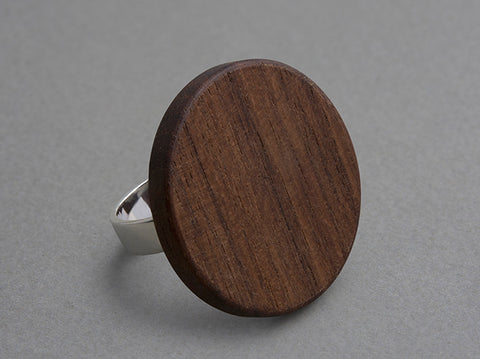 Coin Walnut Ring