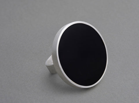 Nora Disc Ring - matte silver