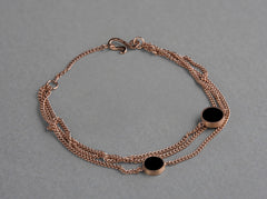 Nora Multi Bracelet - matte, rose gold plated silver