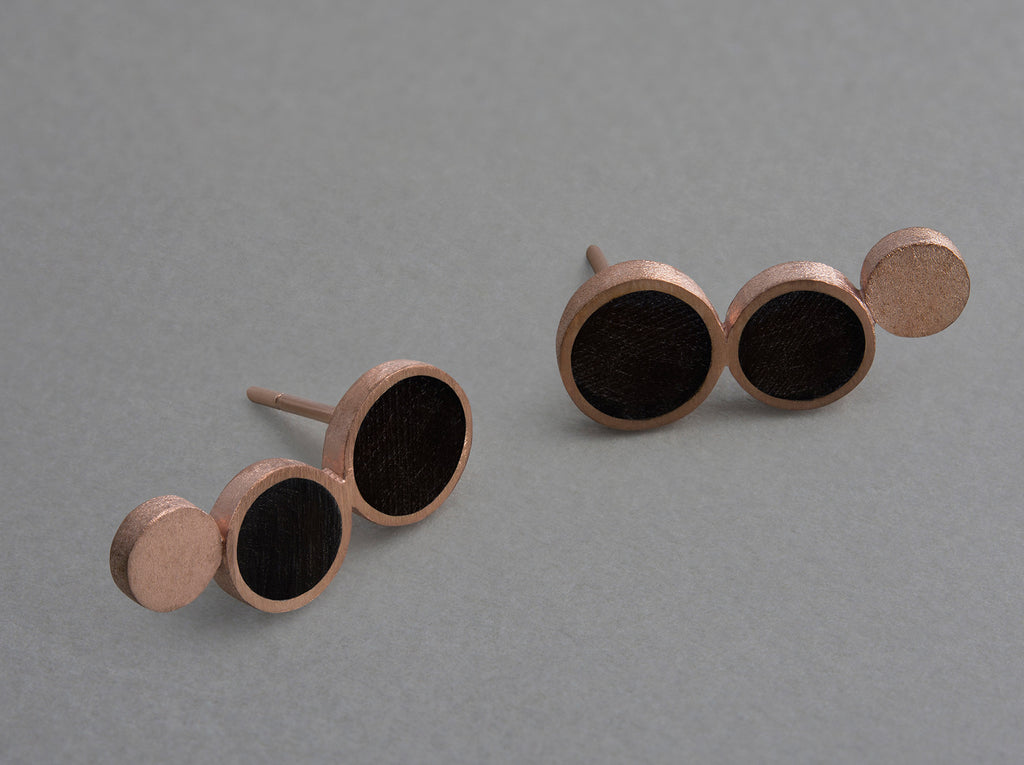 Nora Multi Earring (piece) - matte, rose gold plated silver
