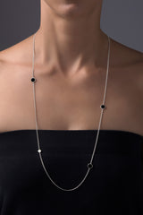 Nora Multi Necklace - matte silver