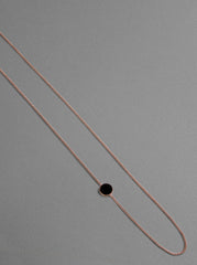 Nora Necklace - matte, rose gold plated silver