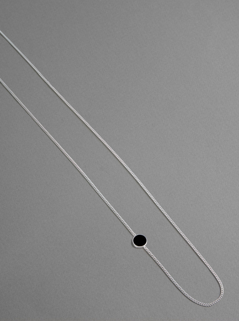 Nora Necklace - matte silver