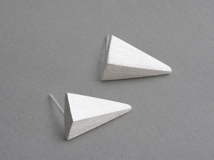 Trident Silver Earrings (pair)