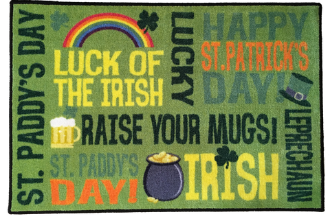 WORDS OF ST PATRICKS DAY RUG