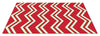 CHEVRON CHRISTMAS RUG - RED