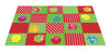 CHRISTMAS ORNAMENTS SQUARES RUG - MULTI