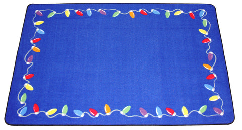 CHRISTMAS LIGHTS RUG - BLUE