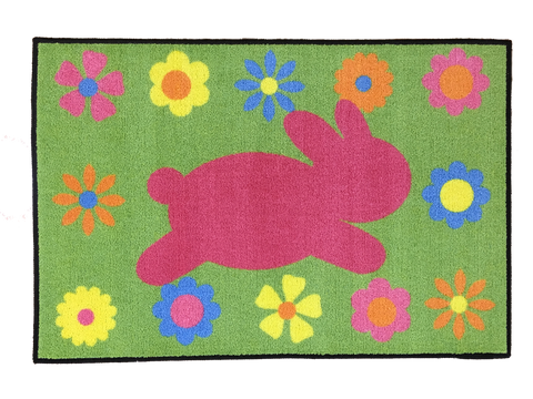 EASTER BUNNY RUG RECTANGLE