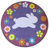 EASTER BUNNY RUG ROUND