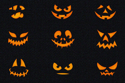 JACK O'LANTERN FACES HALLOWEEN RUG