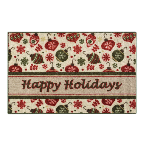 HAPPY HOLIDAYS RUG