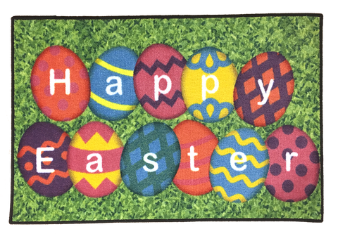 HAPPY EASTER RUG WITH GRASS