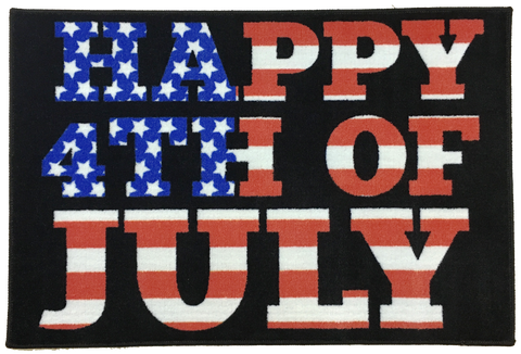 HAPPY FOURTH OF JULY AREA RUG
