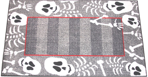 SKELETON HALLOWEEN RUG